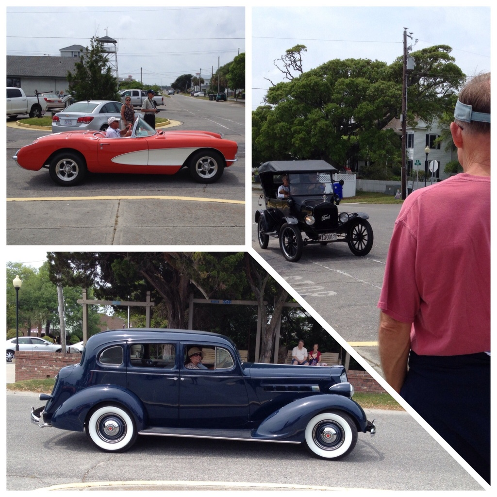There must have been a classic car show close by!