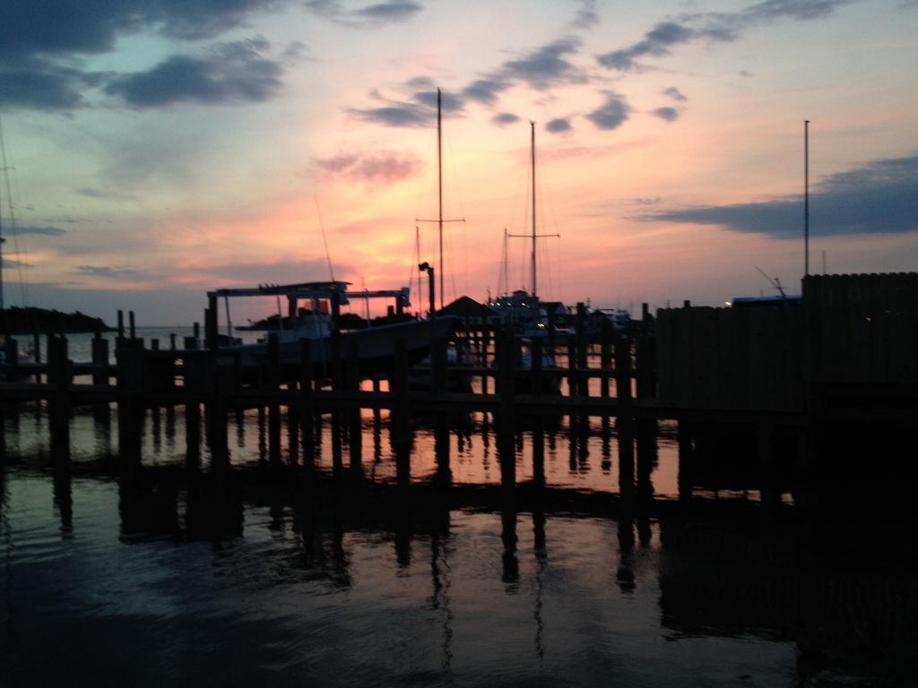 Beautiful sky over the docks.