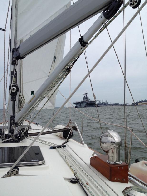 Passing the Naval Fleet