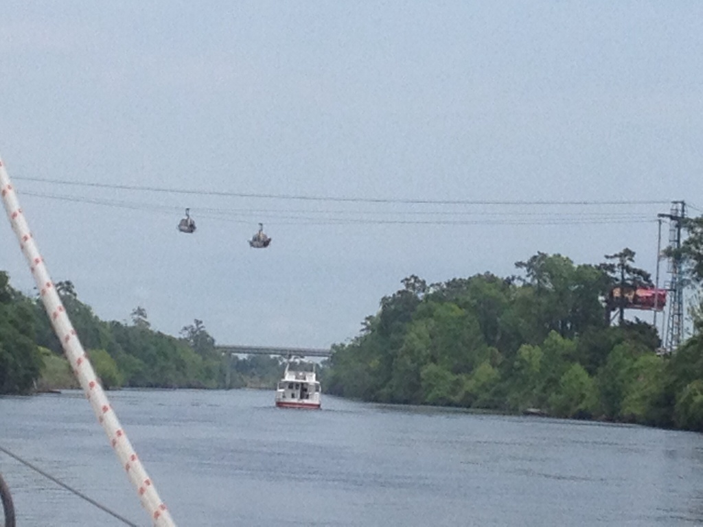 We saw the cable cars this time! These take golfers from the parking lot to the clubhouse.
