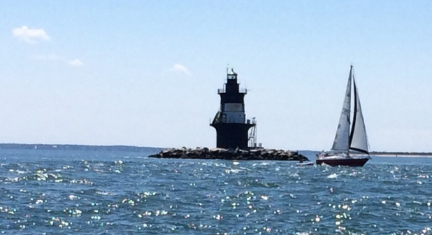 Rounding Orient Point at Plum Gut.