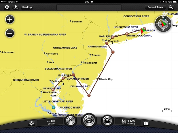 The route we ended up taking instead. 4 nights, 3 stops, we're there!