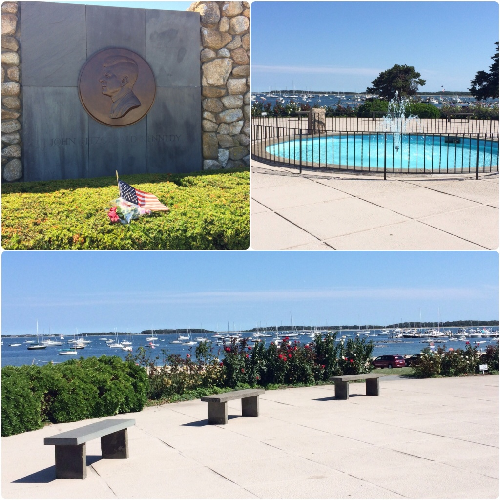 The JFK Memorial on the harbor. The Kennedys have done a lot of sailing in these waters.