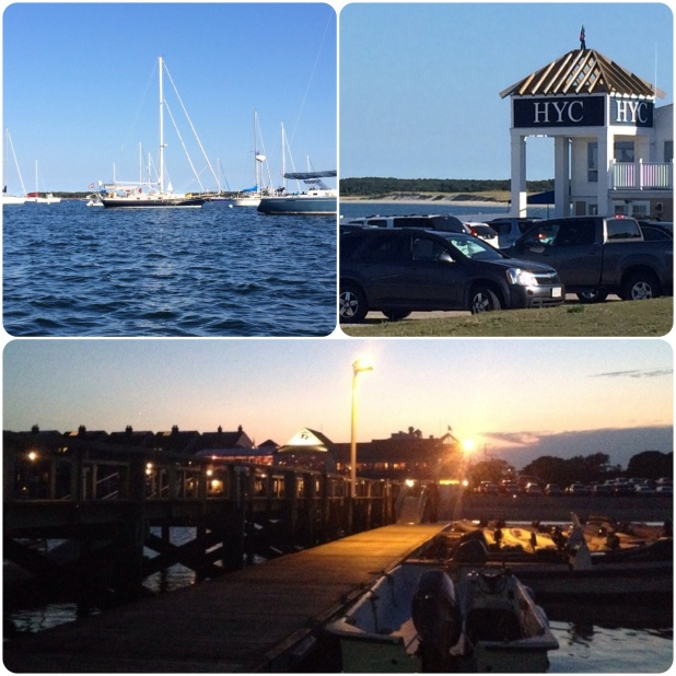 The harbor and Hyannis Yacht Club.