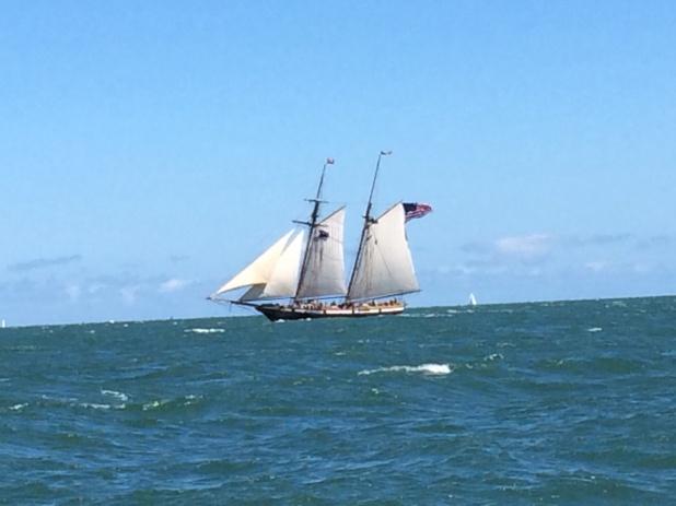 We saw this beautiful ship along the way.