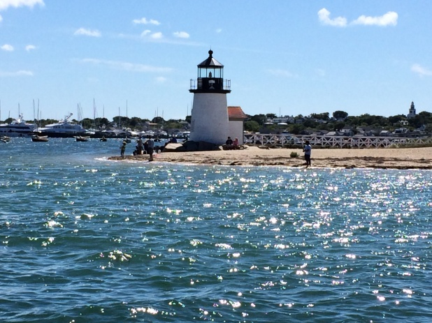Coming into Nantucket Harbor.