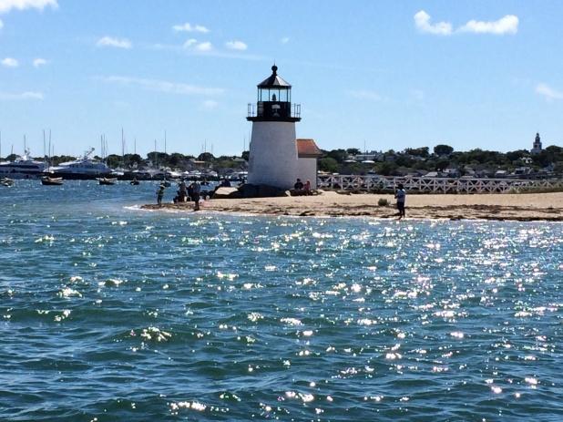 Coming into Nantucket Harbor.