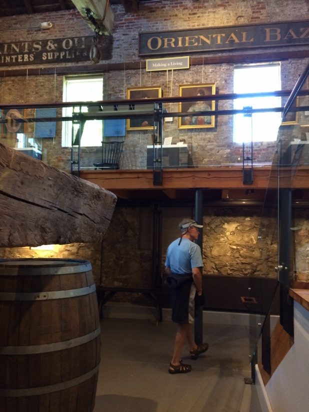 The Whaling Museum came highly recommended. Guide books say to allow at least 2 hours to tour it. We did it in one . . . because, well, you know, Frank likes a museum as long as you can do it fast!