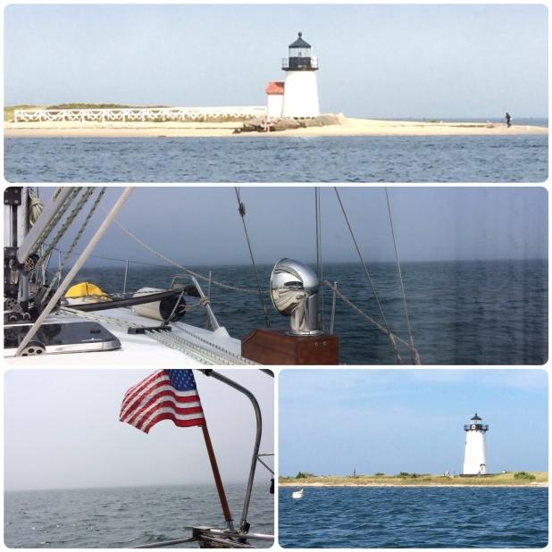 A clear trip - no a foggy trip - no, a clear trip from Nantucket to Martha's Vineyard at times.