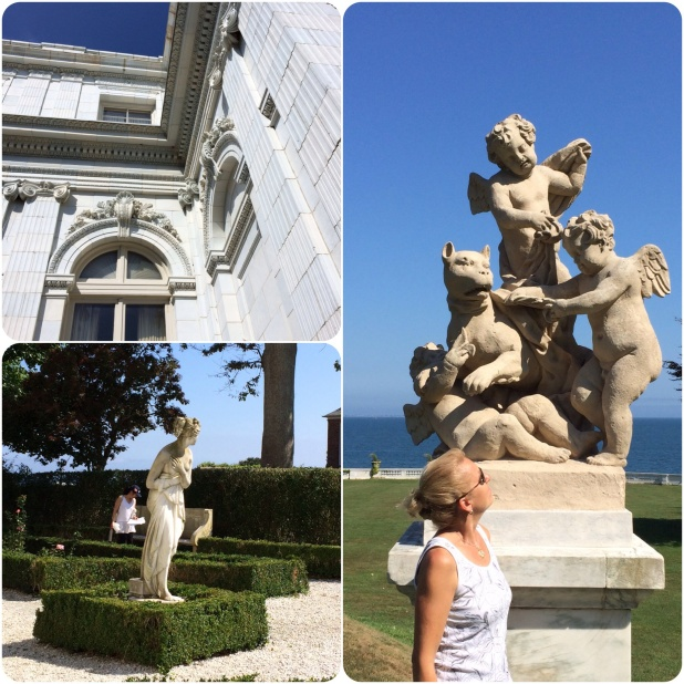 The Mansion Tour: The grounds of Rosecliff. I have NO idea what that sculpture is.