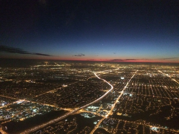 Sunset as I was landing in Toronto for the first time.