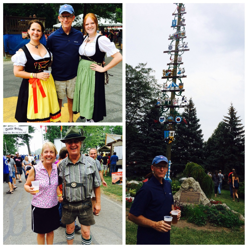 Checking out the German Festival in Toledo.