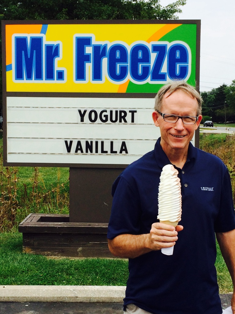 Frank is in search of the largest soft serve ice cream twist. So far this one is the leader in the club house!! Toledo knows how to do soft serve!